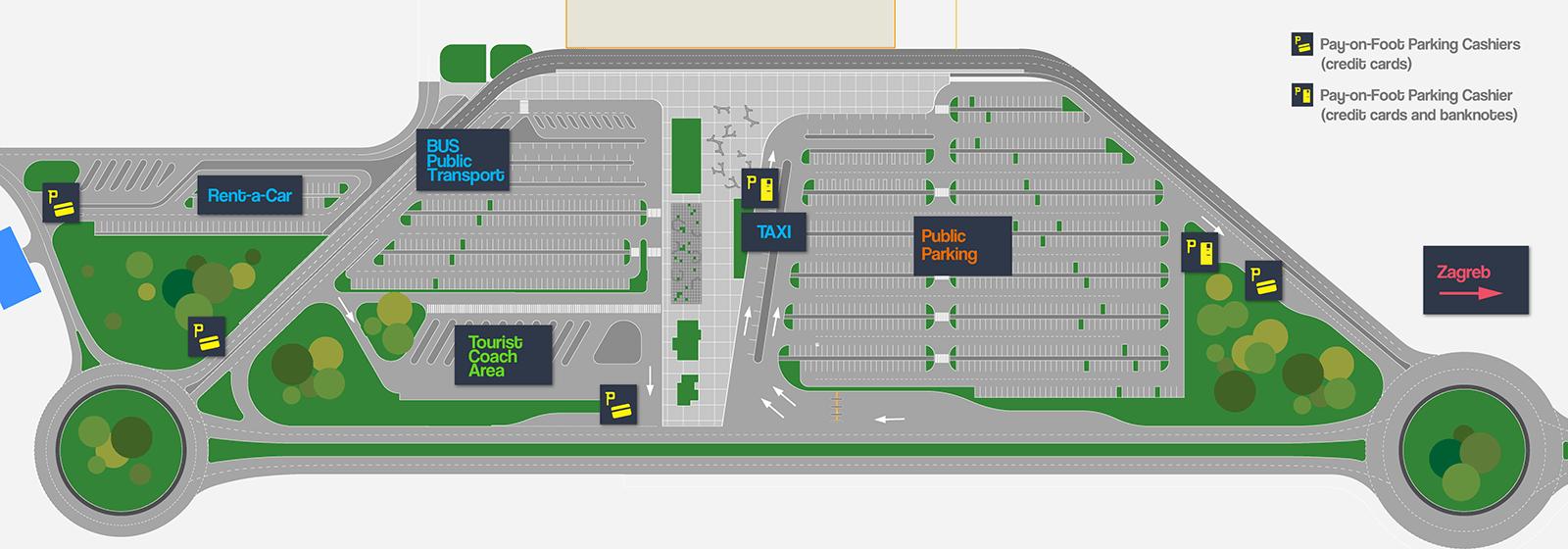 Franjo Tuman Airport Zagreb Parking Plan
