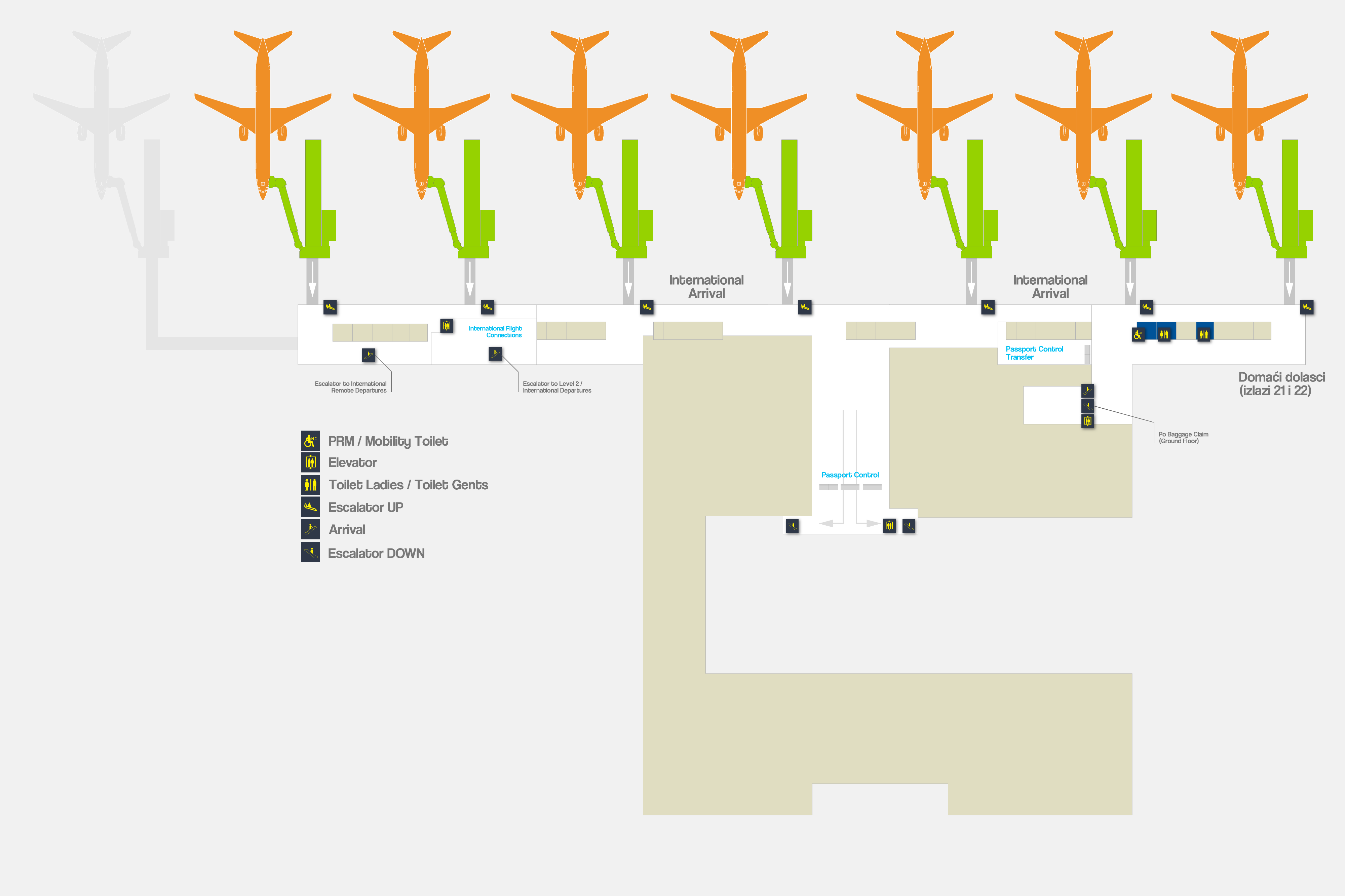 Franjo Tuđman Airport Zagreb - Airport Map