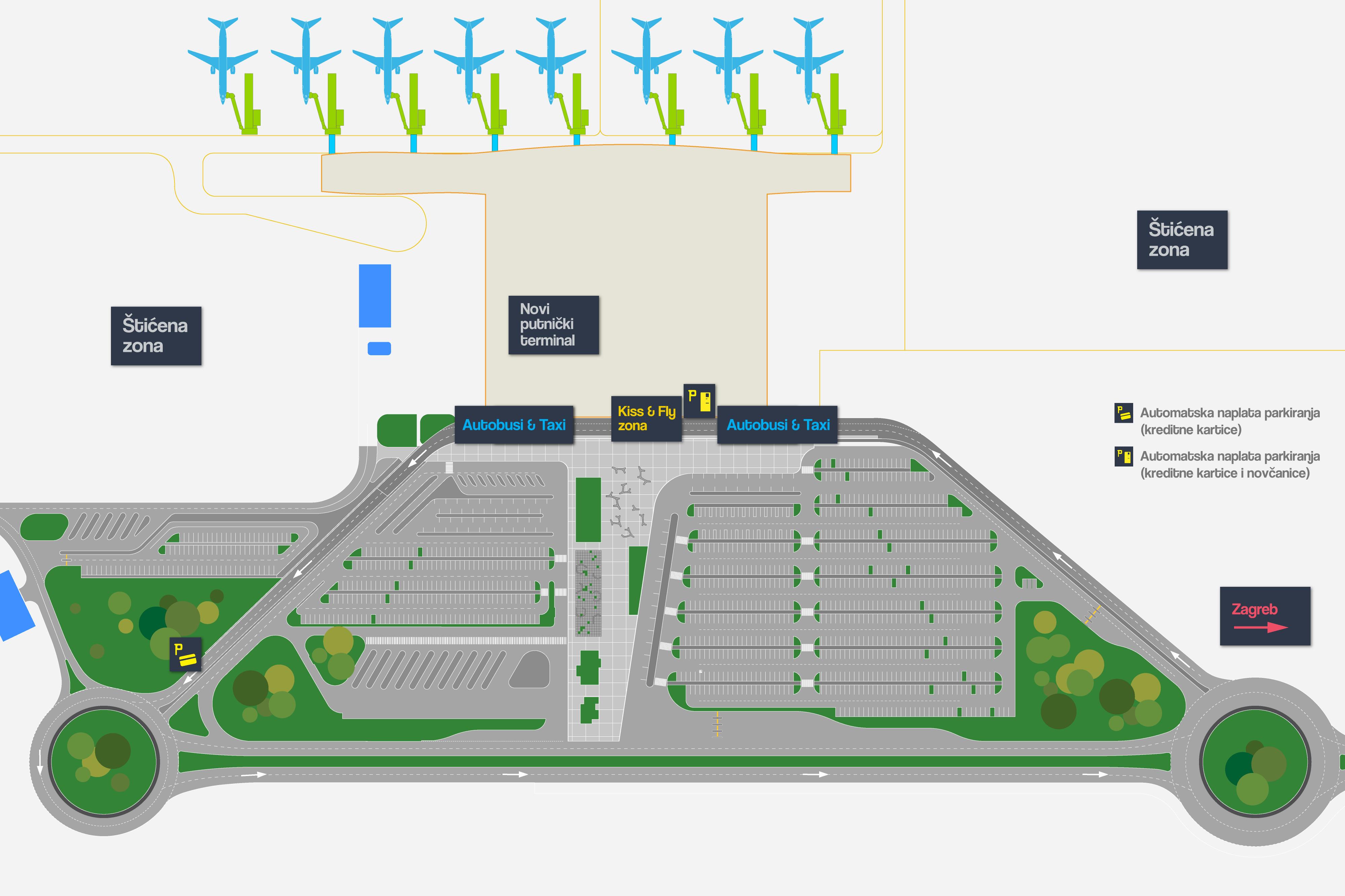 Međunarodna Zracna Luka Zagreb Franjo Tuđman Mapa Terminala